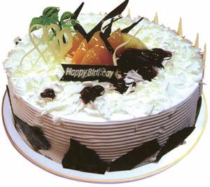 圆形鲜奶巧克力蛋糕
