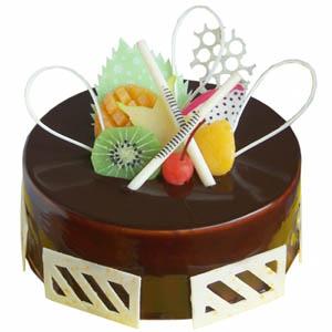 圆形巧克力蛋糕