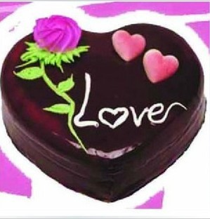 锦色甜园心蛋糕