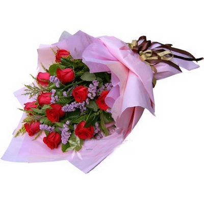 11支红玫瑰/勿忘我
