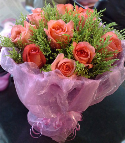 9朵粉玫瑰/温馨