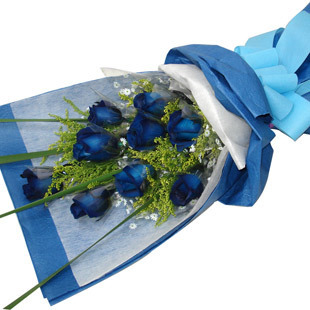 9枝蓝色妖姬