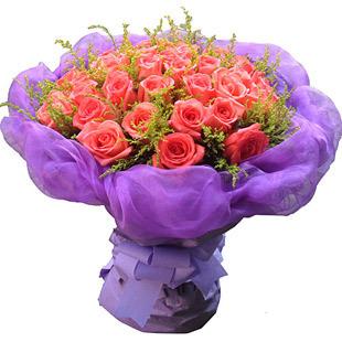33枝顶级粉玫瑰