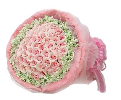 99支粉玫瑰
