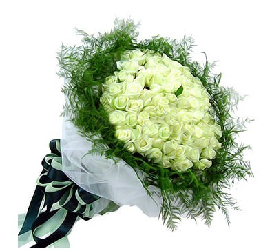 99只白玫瑰