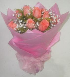 9朵粉色玫瑰