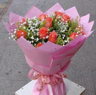 爱上11朵粉玫瑰