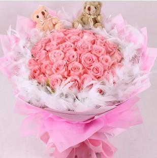 白头偕老/33朵粉玫瑰