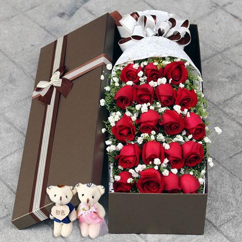 19朵礼盒花束